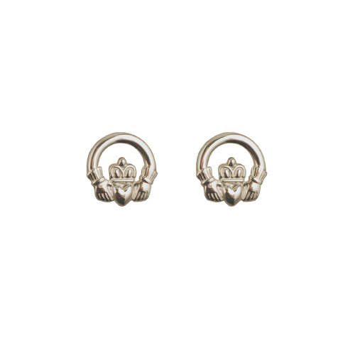 earrings claddagh product silver stud sterling